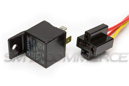 relais f voiture support 12 v 40 a normalement ouvert relais commutateur ebay. Black Bedroom Furniture Sets. Home Design Ideas